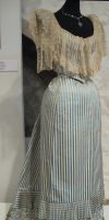 Striped Victorian Dress II by Avestra-Stock