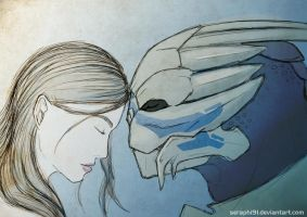 Reby and Garrus by Seraphi91