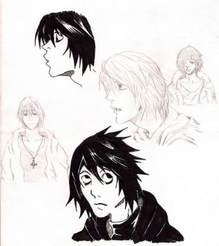 fallen sketches by saiyaman100