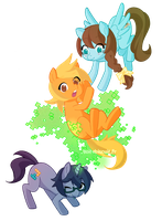 Abunai Ponies by Bisc-chan