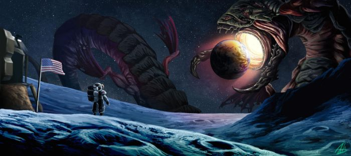 Space Worm by Aktheneroth