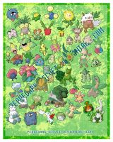 CHIBI POKEMON STICKERS: GRASS