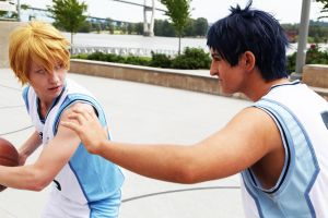 Kise vs Aomine by twinfools
