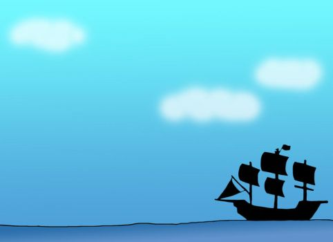 Pirate Ship Background by Miragehedgehog