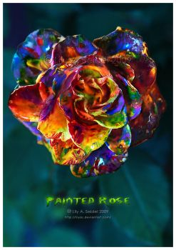 Painted Rose by Lilyas