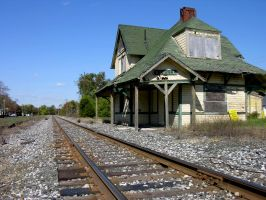 Abandoned Train Station 3 by FairieGoodMother