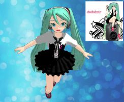 MMD Newcomer Delicious Miku by false-prophetess