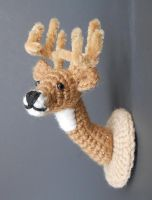 Pattern Now Available! Crochet Deer Head Mount by Pickleweasel360