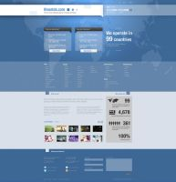 BlueAds Mockup Web Design by magneticlab
