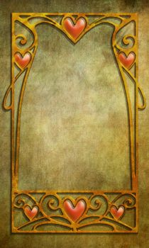 831 Heart Frame green by Tigers-stock