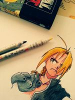 Ed Elric (Sketch) by DarksideofChocolate