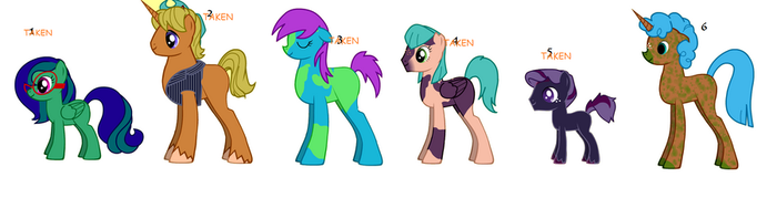 Pony Adoptables by Were-Wolf-Hell