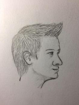 Hawkeye: Profile Sketch by eK-designs