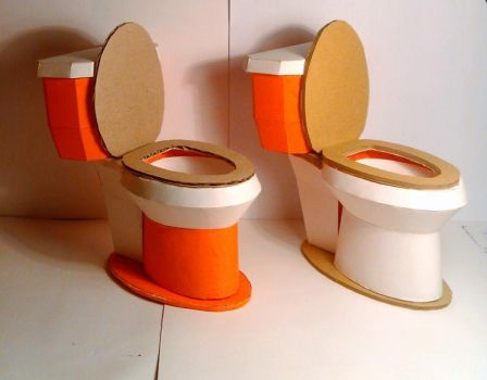couple toilet papercraft by nandablank