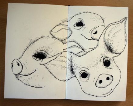 three little piglets by agalula