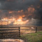 Haunted Sunset Premade Background by little-spacey