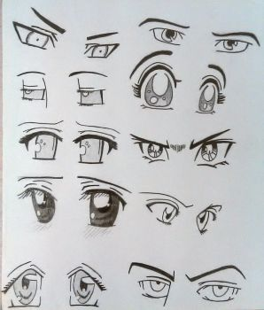 More Sketch Eyes by Simbaboy8