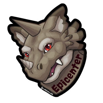 Epicenter Badge by Bumbledoodle