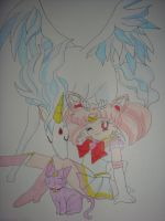 Chibi Moon and Team by silvermoonmagic