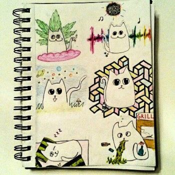Cats on drugs by Mynthons