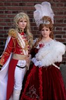 The Rose of Versailles: Oscar and Marie Antoinette by liinalinni