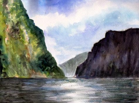 watercolor seascape 2 by Just-a-Witness