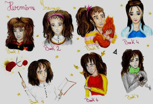 Hermione through the ages by RalucaPop