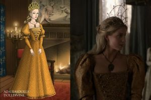 Jane's Goldish-Orange Gown by LadyAquanine73551