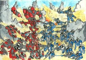 Soulhost Battle by Scarnor