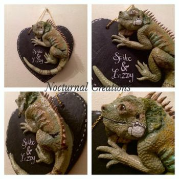Iguana Plaque by NocturnalCreations-x